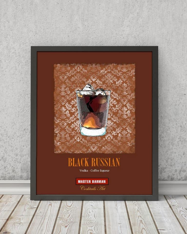 Black Russian - Master Barman - Cocktails Art | STAMPA | Vimages - Immagini Originali in stile Vintage - CT03