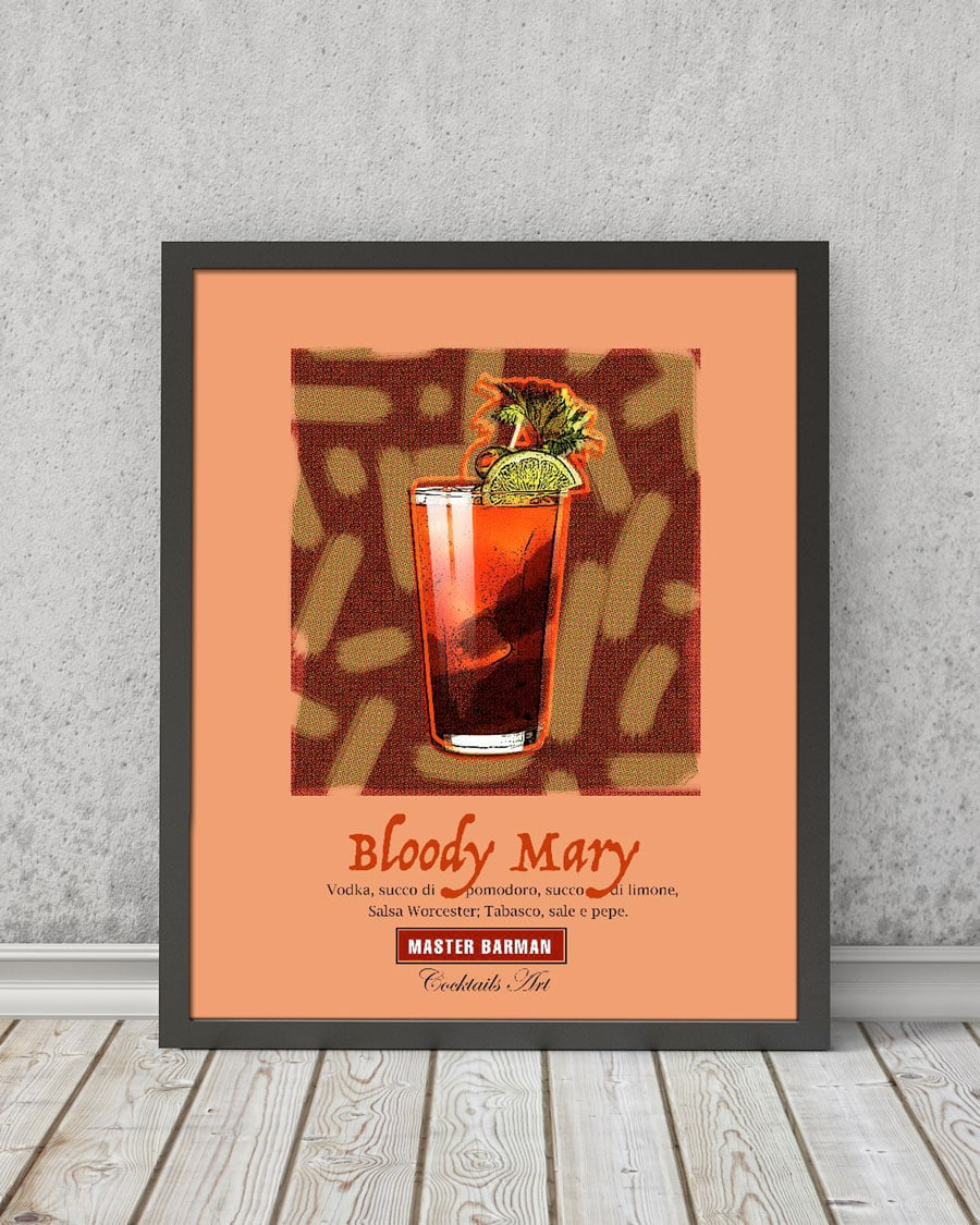 Bloody Mary - Master Barman - Cocktails Art | STAMPA | Vimages - Immagini Originali in stile Vintage - CT05