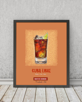 Cuba Libre - Master Barman - Cocktails Art | STAMPA | Vimages - Immagini Originali in stile Vintage - CT06