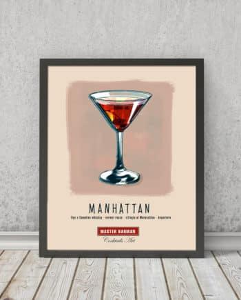 Manhattan - Master Barman - Cocktails Art | STAMPA | Vimages - Immagini Originali in stile Vintage - CT07