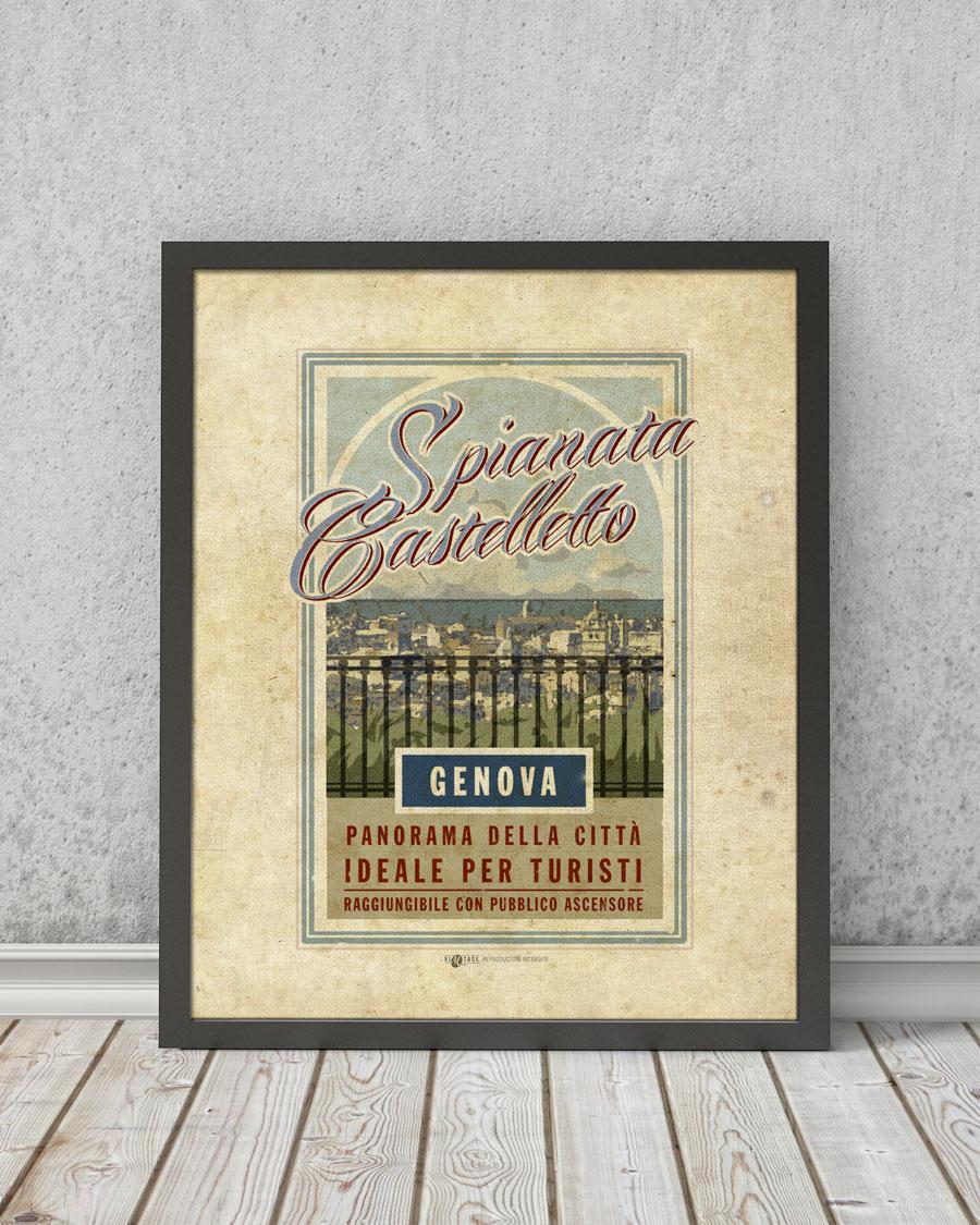 Castelletto Spianata Genova | STAMPA | Vimages - Immagini Originali in stile Vintage