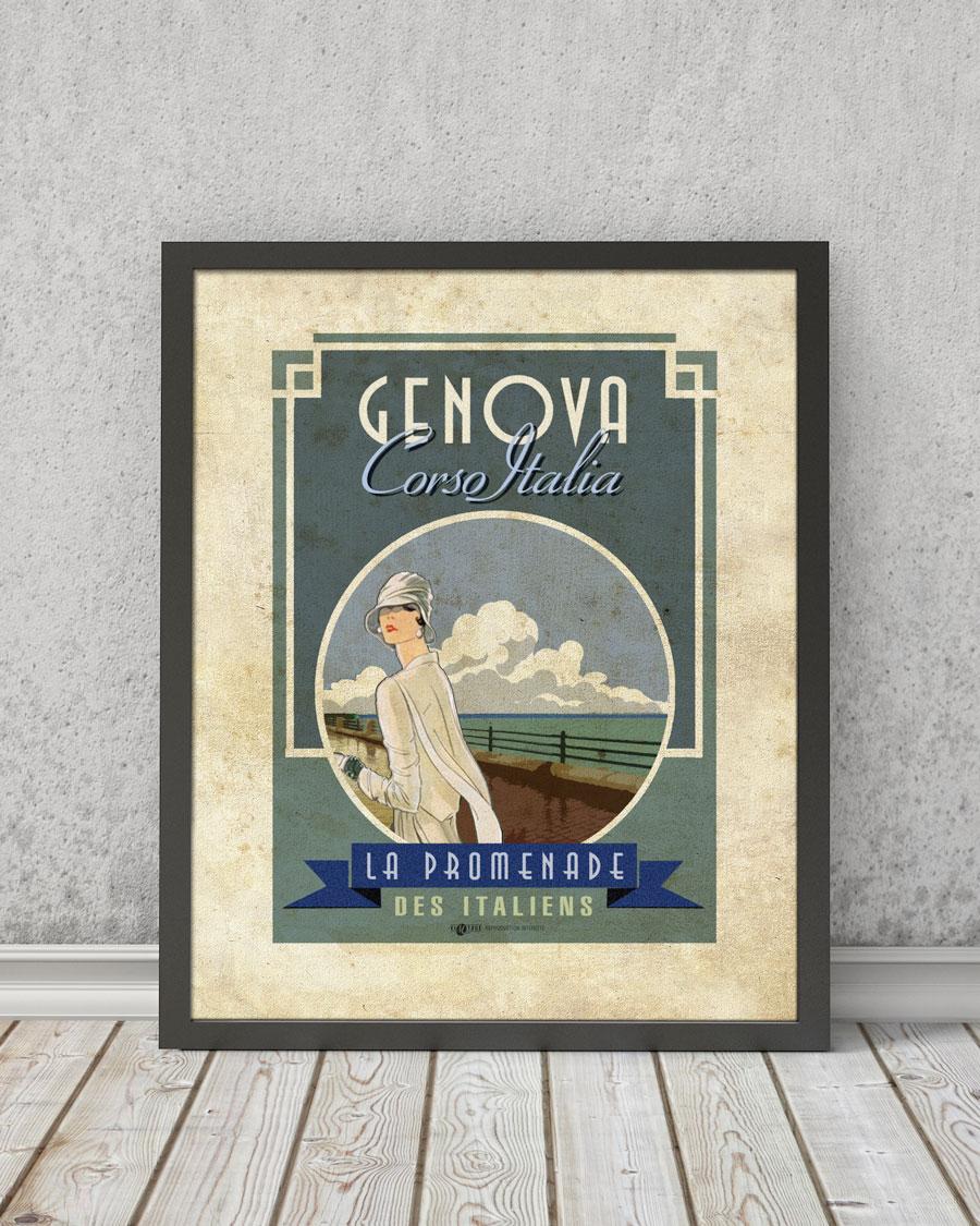 Corso Italia Genova | STAMPA | Vimages - Immagini Originali in stile Vintage
