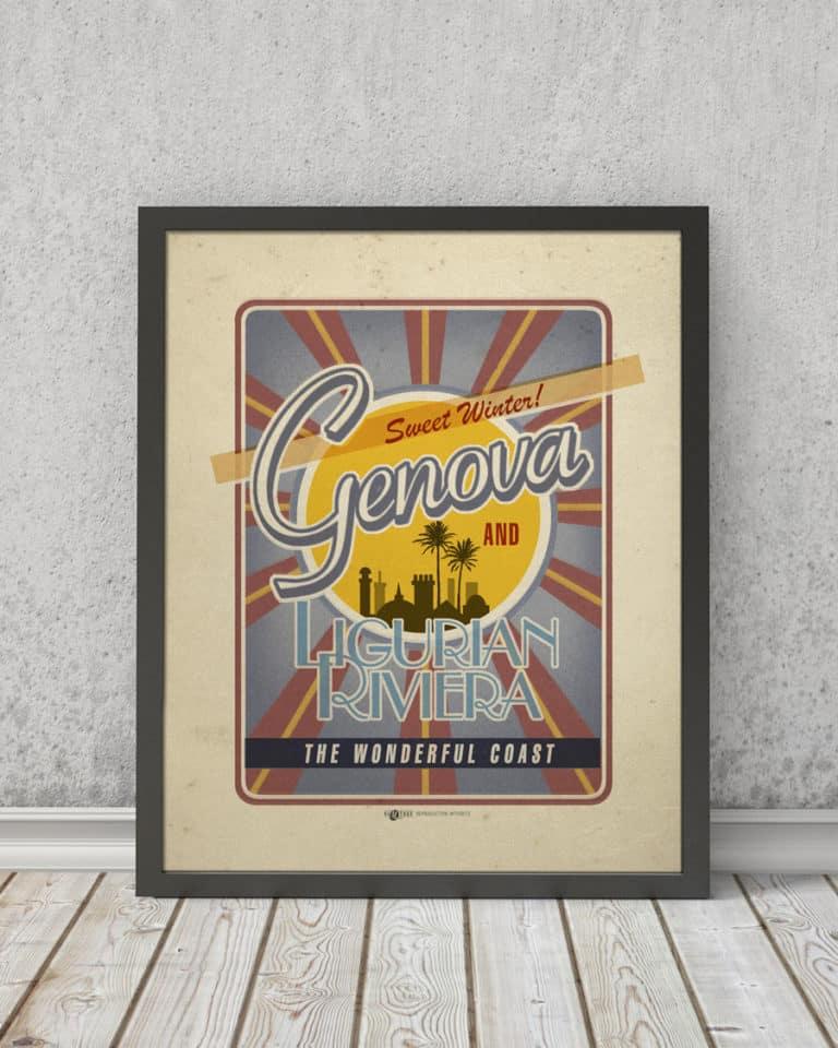 Genova Ligurian Riviera | STAMPA | Vimages - Immagini Originali in stile Vintage