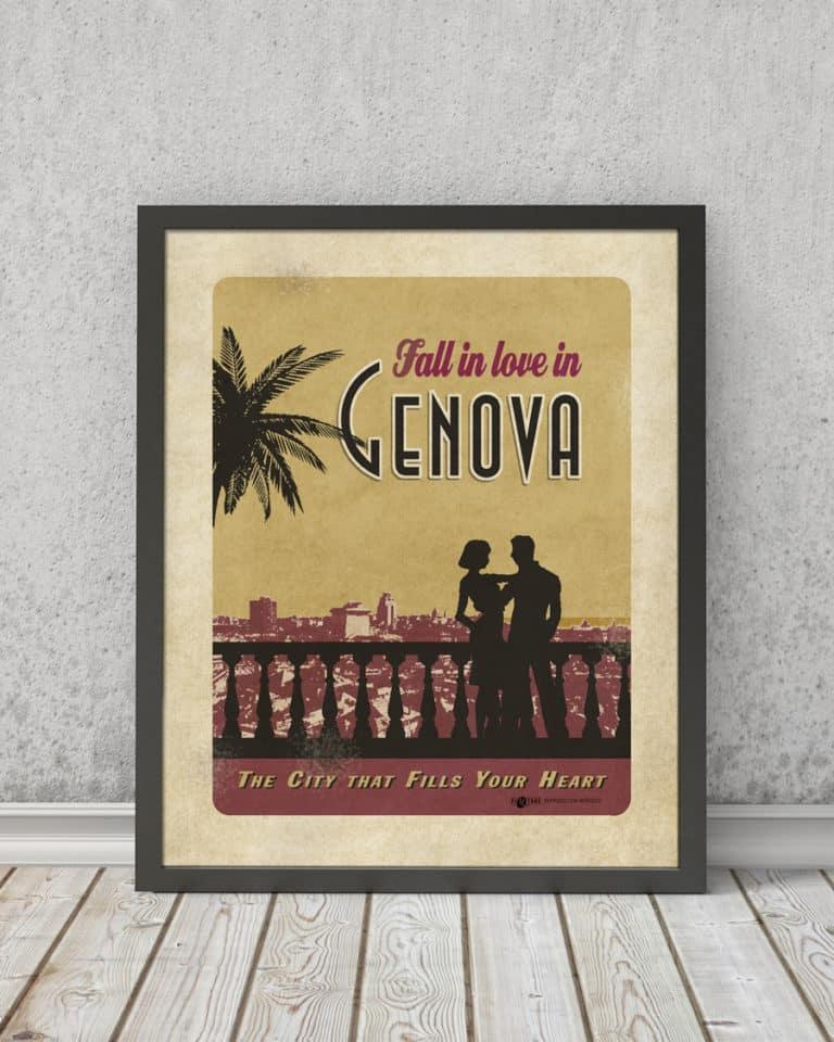 Fall in love Genova | STAMPA | Vimages - Immagini Originali in stile Vintage