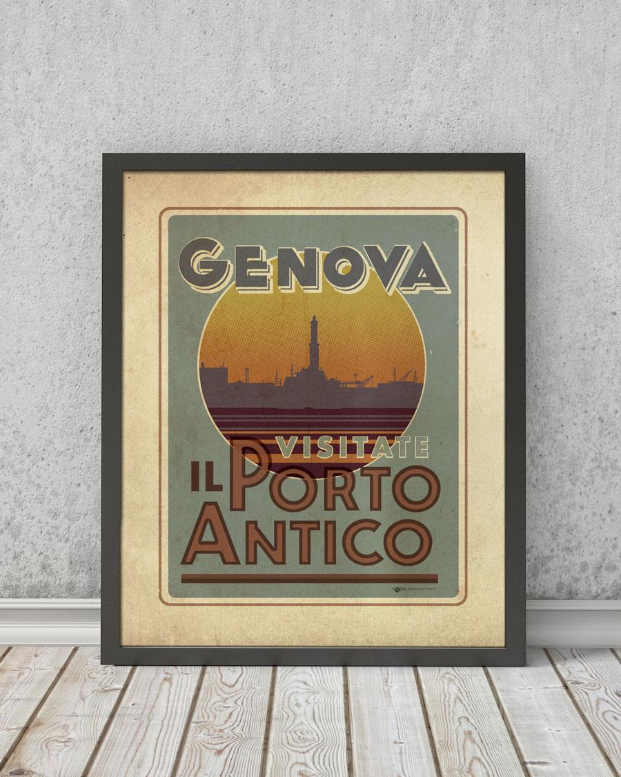 Genova Porto Antico | STAMPA | Vimages - Immagini Originali in stile Vintage