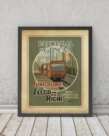 Funicolare Zecca-Righi | STAMPA | Vimages - Immagini Originali in stile Vintage