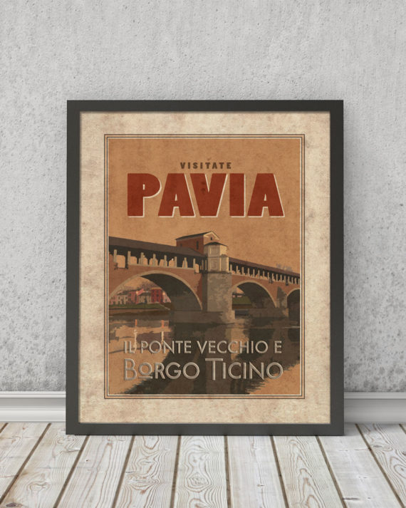 Pavia   STAMPA   Vimages - Immagini Originali in stile Vintage
