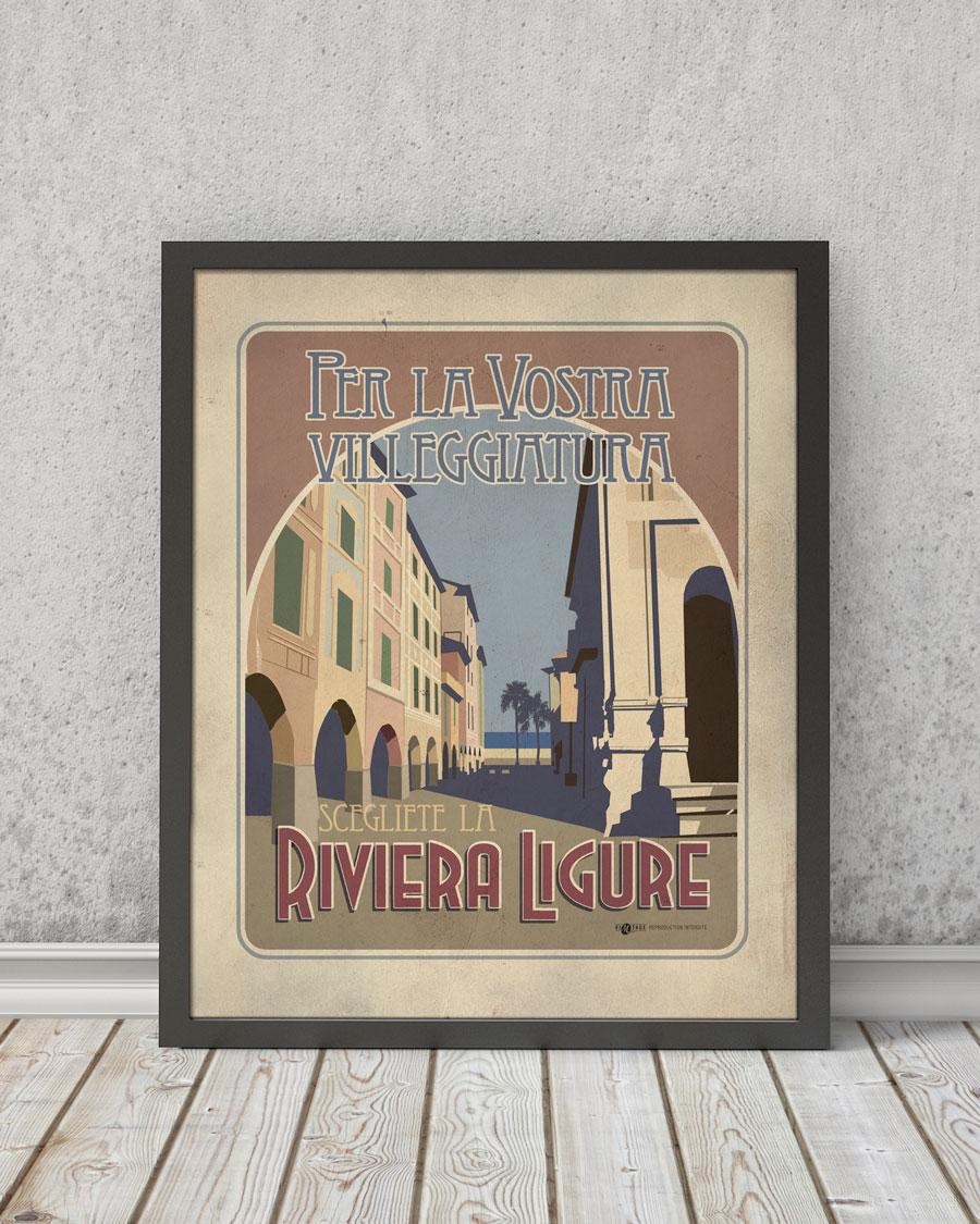 Riviera ligure | STAMPA | Vimages - Immagini Originali in stile Vintage
